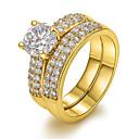 ieftine Inele la Modă-Pentru femei Inel de declarație - Zirconiu, Articole de ceramică, Diamante Artificiale European 6 / 7 / 8 Pentru Petrecere Zilnic Casual / 18K Aur