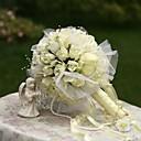 "baratos Bouquets de Noiva-Bouquets de Noiva Buquês Casamento Festa / Noite Seda 12.2""(Aprox.31cm)"