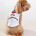 baratos Colares, Coleiras e Peitorais para Cães-Cachorro Camiseta Roupas para Cães Carta e Número Branco Algodão Ocasiões Especiais Para animais de estimação