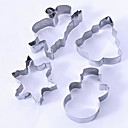 cheap Bakeware-Bakeware tools Stainless Steel Holiday / Christmas For Cake / For Cookie Cake & Cookie Cutter / Mold 4pcs
