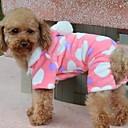 abordables Pelucas para Disfraz-Perro Abrigos Saco y Capucha Pijamas Ropa para Perro Corazón Lana Polar Algodón Disfraz Para mascotas