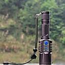 זול פנסים-פנס LED LED 1198 lm 5 מצב עם סוללה עמיד לחבטות אחיזה נגד החלקה נטענת עמיד במים טקטי מחנאות/צעידות/טיולי מערות משטרה/צבא רכיבה על אופניים