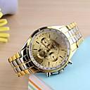 preiswerte Mechanische Uhren-Herrn Armbanduhr Quartz Gold Analog Schwarz Golden Ein Jahr Batterielebensdauer / SSUO 377