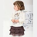 hesapli Tırnak Takısı-Kız Solid Bahar Sonbahar Uzun Kollu Elbise Beyaz