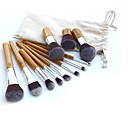 voordelige Make-up kwastensets-11pcs Make-up kwasten professioneel Brush Sets Synthetisch haar Medium kwast / Kleine kwast