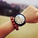 cheap Shoulder Bags-Women's Wrist Watch Quartz Casual Watch Cool Leather Band Analog Charm Fashion Black - White Black
