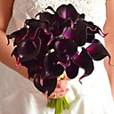 cheap Artificial Flower-Artificial Flowers 9 Branch Flower Calla Lily Tabletop Flower