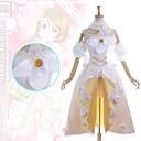 hesapli Anime Kostümleri-Esinlenen Canlı Aşk Hanayo Koizumi Anime Cosplay Kostümleri Elbiseler Kırk Yama Kolsuz Elbise / Yaka / Kolluk Uyumluluk Kadın's / Saten