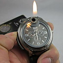 Χαμηλού Κόστους Στρατιωτικό Ρολόι-Ανδρικά Ρολόι Καρπού Μοναδικό Creative ρολόι Χαλαζίας αναπτήρας σιλικόνη Μπάντα Αναλογικό Μαύρο - Λευκό Μαύρο