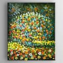 billige Landskapsmalerier-Hang malte oljemaleri Håndmalte - Abstrakt Moderne Lerret