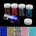 baratos Adesivos de Unhas-5pcs folha de laser unhas decoração de unhas estrelados adesivos (150x4x0.1cm)