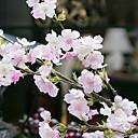 cheap Men's Accessories-Artificial Flowers 4 Branch Wedding Flowers Sakura Tabletop Flower
