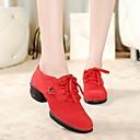 olcso Tánccipők-Női Tánccipők Bőr Kétrészes talp Alacsony Szabványos méret Dance Shoes Fekete / Piros / Zöld