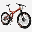 billige Sykler-Fjellsykkel / Foldesykkel Sykling 21 Trinn 26 tommer (ca. 66cm) / 700CC SHINING SYS Dobbel skivebremse Luftfjæringsgaffel Vanlig Aluminiumslegering