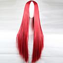 abordables Accesorios para el Cabello-Pelucas sintéticas Recto Corte asimétrico Pelo sintético 28 pulgada Entradas Naturales Rojo Peluca Mujer Larga Sin Tapa Rojo