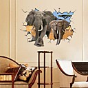 cheap Wall Stickers-Landscape Animals Still Life Romance Fashion Fantasy 3D Wall Stickers 3D Wall Stickers Decorative Wall Stickers, Paper Home Decoration