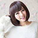 billige Syntetiske parykker uten hette-Syntetiske parykker Dame Rett Brun Syntetisk hår 9 tommers Brun Parykk Kort Kastanje