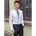 رخيصةأون جزمات رجالي-رجالي قميص قالب مثالي أنيق / كلاسيكي / أساسي لون سادة