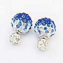 cheap Men's Necklaces-Women's Stud Earrings - Rhinestone Fashion Dark Blue / Red / Blue For