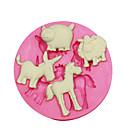 preiswerte Backformen-Tierform Form Schaf Schwein Esel Pferd Kuchen dekorieren Silikonform für Fondant Süßigkeiten Handwerk Schmuck pmc Harz Ton