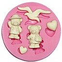 baratos Artigos de Forno-bolo de silicone bolo molde urso silicone molde fondant de chocolate decorar artes de molde de silicone forma gaivota&artes