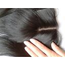 billige Lukning og frontside-PANSY Hairextensions med menneskehår Rett Brun Hårdel Ekte hår Malaysisk hår Dame - Naturlig Svart