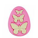 preiswerte Backformen-3-Loch Schmetterling Silikonform Kuchen dekorieren Silikonform für Fondant Süßigkeiten Handwerk Schmuck pmc Harz Ton