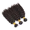 preiswerte Urlaub Angebote-PANSY Schussfaden Haarverlängerungen Locken Kinky Curly Echthaar Brasilianisches Haar 18 Zoll Damen - Naturschwarz / Kinky-Curly