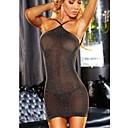povoljno Ogrtači i odjeća za spavanje-Žene Mrežica Ultra seksi / Seksi bodi Noćno rublje Jednobojni Crn One-Size