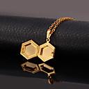 abordables Anillos-Mujer Collares con colgantes / Collar de medallones - Chapado en Oro Moda Gargantillas Para Boda, Ocasión especial, Cumpleaños