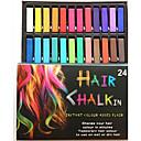 olcso szájfény-ideiglenes 24 színes kréta ceruzák a haj nem mérgező hajfesték pasztell kibír DIY styling eszközök