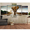 cheap Rolled Canvas Prints-Stretched Canvas Print Canvas Set Animals Vertical Print Wall Decor Home Decoration