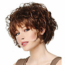 cheap Synthetic Capless Wigs-Synthetic Wig Curly Asymmetrical Haircut Synthetic Hair Cosplay Brown Wig Women's Short Capless