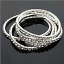 ieftine Brățări-Pentru femei - Clasic Brățări Argintiu Pentru Nuntă / Petrecere / Ocazie specială / Aniversare / Zi de Naștere / Logodnă / Cadou / Zilnic