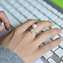 billige Moderinge-Dame Band Ring - Perle, Rhinsten, Simuleret diamant Luksus Justerbar Sølv Til Bryllup / Fest / Daglig / Legering