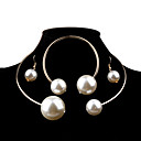 cheap Jewelry Sets-Women's Pearl Jewelry Set - Pearl, Imitation Pearl Ball Fashion, Elegant, Bridal Include Silver / Golden For Wedding / Party / Birthday / Earrings / Necklace / Oversized