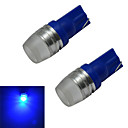 billige LED-lyspærer-2pcs 1.5 W 50-100 lm 1 LED perler Høyeffekts-LED Blå 12 V / 2 stk.