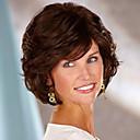 halpa Synteettiset peruukit ilmanmyssyä-Synteettiset peruukit Kihara Kerroksittainen leikkaus Synteettiset hiukset Luonnollinen hiusviiva Ruskea Peruukki Naisten Lyhyt Suojuksettomat