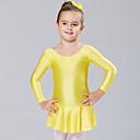 preiswerte Kleidersets für Mädchen-Ballett Kleider / Kleider & Röcke / Balletröckchen und Röcke Training / Leistung Elasthan Langarm Prinzessin Kleid