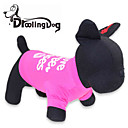 cheap Car Interior Lights-Cat Dog Shirt / T-Shirt Dog Clothes Letter & Number Rose Cotton Costume For Pets