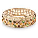 baratos Anéis-Mulheres Cristal Pulseiras Algema - Banhado a Ouro 18K, Imitações de Diamante Luxo, Casual, Estilo bonito Pulseiras Amarelo / Arco-Íris Para Diário