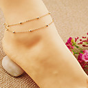 cheap Anklet-Anklet - Ladies, Party, Casual, Fashion Gold / Silver For Daily Women's