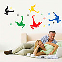 cheap Wall Stickers-People Wall Stickers Plane Wall Stickers Decorative Wall Stickers, Vinyl Home Decoration Wall Decal Wall