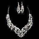 preiswerte Ringe-Damen Strass Strass Aleación Halsketten Ohrringe Für Hochzeit Besondere Anlässe Hochzeitsgeschenke