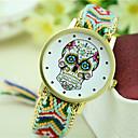 זול סניקרס לנשים-בגדי ריקוד נשים שעון יד מכירה חמה בד להקה בוהמי / אופנתי שחור / כחול / תפוז