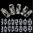 cheap Water Transfer Nail Stickers-1 pcs Flower / Wedding / Fashion Lace Sticker / 3D Nail Stickers Daily