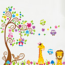 cheap Wall Stickers-Animals Wall Stickers Plane Wall Stickers Decorative Wall Stickers, Vinyl Home Decoration Wall Decal Wall