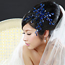 cheap Party Headpieces-Crystal Fabric Alloy Tiaras Flowers 1 Wedding Special Occasion Party / Evening Headpiece
