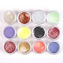 billige Negleglitter-1*12 pcs Akrylpulver / Pudder Blomst / Abstrakt / Klassisk Smuk Daglig