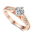 hesapli Yüzükler-Kadın's Bildiri Yüzüğü - Kristal, Kübik Zirconia, alaşım Moda 6 / 7 / 8 Gümüş / Altın Uyumluluk Düğün / Parti / Nişan / Günlük